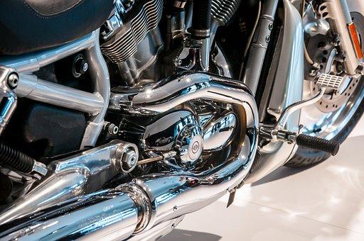 Motorcycle, Chrome, Technology, Metal, Shiny, Vehicle