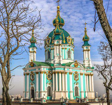Ukraine, Kiev, Architecture, Travel, Church, Sky
