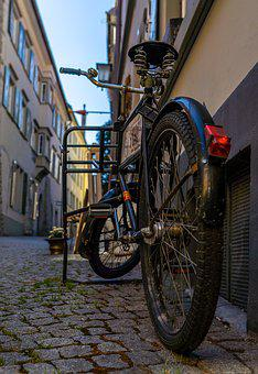 Houses, City, Bike, Architecture, Building, Urban