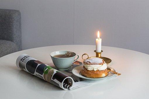 Wheat Roll, Buns, Cream, Dessert, Coffee Break