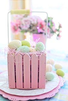 Easter, Eggs, Pastels, Spring, Colorful, Basket
