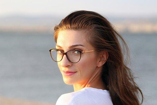 Eyewear, Portrait, Female, Face, Hair, Fashion, Woman