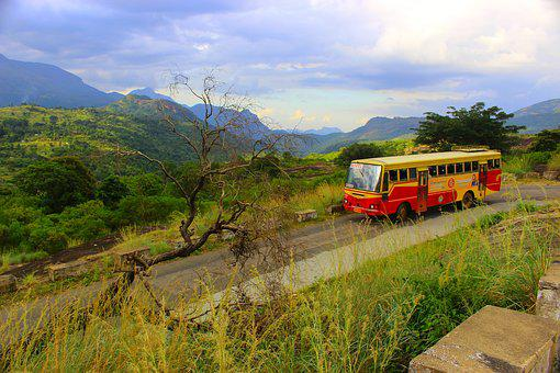 Hill Station, Bus, High, Landscape, Mountain, Travel