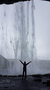 Iceland, Waterfall, Landscape, Nature, Scenic, Falls