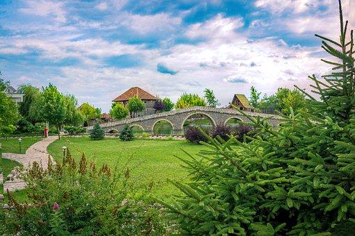 Village, Nature, Landscape, Trees, Sun, Spring, Summer