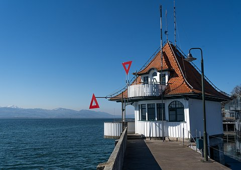 Port, Ship, Lake Constance, Lindau, House, Architecture