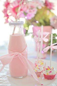 Milk, Pink, Strawberry Milk, Drink, Food, Delicious