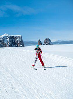 Ski School, Skiers, Snow, Mobile Phone, Winter, Runway
