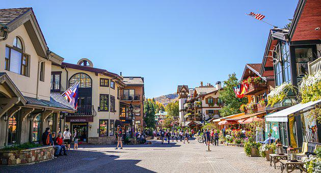 Vail, Colorado, Town, Landscape, Outdoor, Tourism
