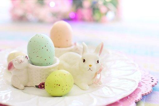 Easter, Eggs, Bunny, Pastels, Spring, Colorful, Basket