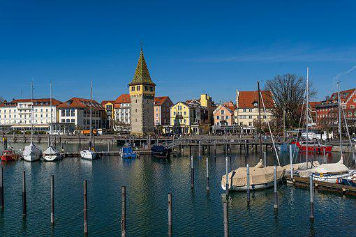 Port, Lindau, City, Lake Constance, Water