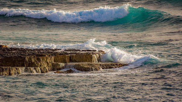 Rocky Coast, Waves, Smashing, Nature, Sea, Splash