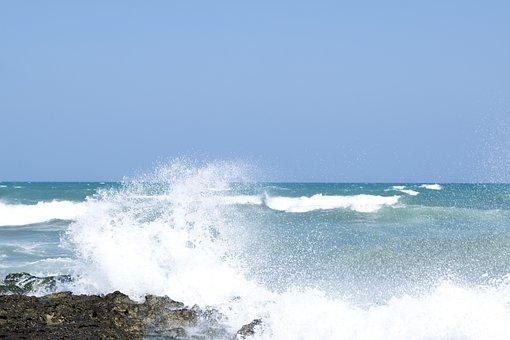 Sea, Waves, Rocks, Storm, Wind, Nature, Sand, Italy