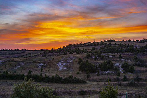 Sunset, Rural, Nature, Sky, Clouds, Landscape