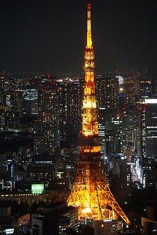 Tokyo, Toyko Tower, Japan, At Night, Tokyo At Night