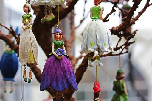 Elf, Violet Elf, Florencia, Flower Elf, Deco