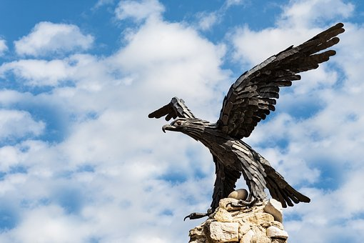 Aquila, Bird, Statue, Monument, Animal, Feather, Falco