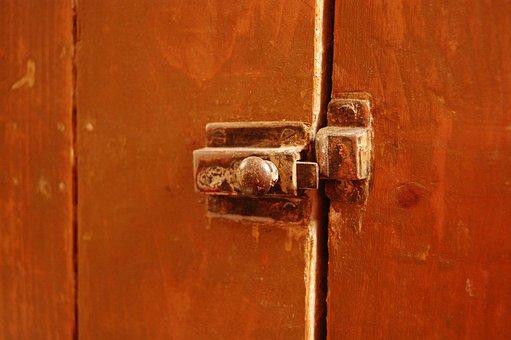 Door, Latch, Antique, Wood, Vintage, Wooden