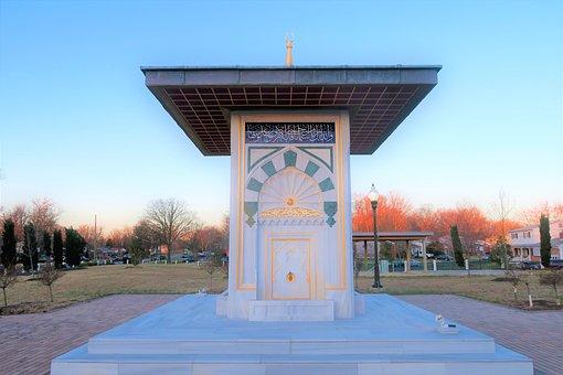 Fountain, Water, Architecture, Art, Ottoman, America