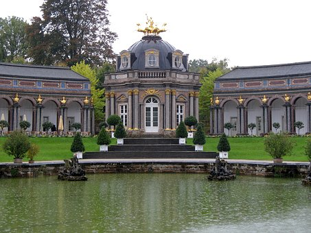 Bayreuth, Hermitage, Castle, Barockgarten, Plant