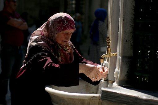 Woman, Tap, Fountain, Eyüp Sultan, Istanbul, Boat