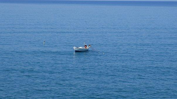 Boat, Sea, Landscape, Water, Quiet, Reflection, Summer