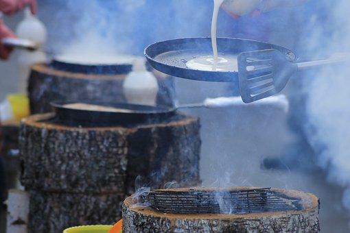 Carnival, Pancakes, Frying Pan, Warmly, Fire, Fry