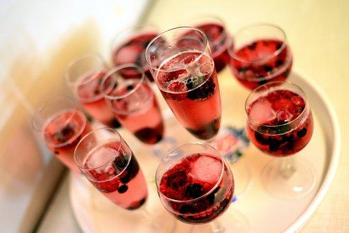 Champagne, Drink, Red, Alcohol, Celebration, Celebrate