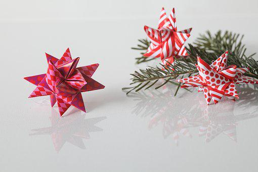 Christmas, Froebel Star, Tannenzweig, Decoration