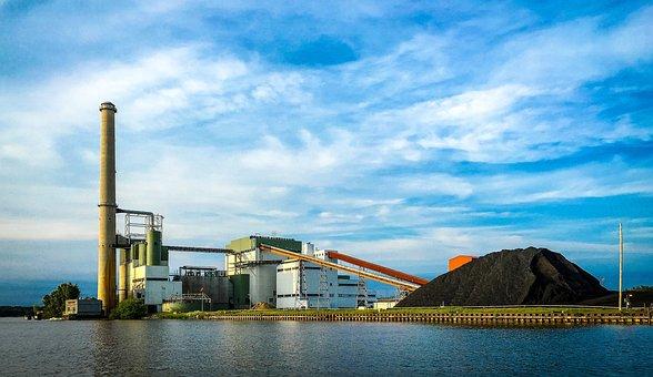 Grand Haven, Michigan, Channel, Coal, Coal Plant
