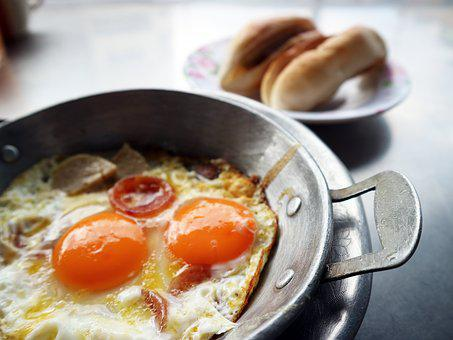A Fried Egg, Breakfast, Food, Egg, Cooking, Toast