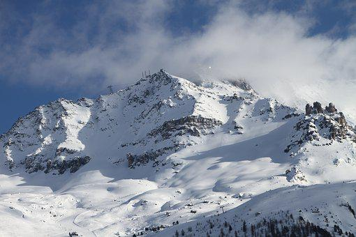 Corvatsch, Ski Area, Mountains, Snowboarding, Winter
