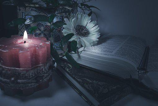 Candle, Dark, Books, Gothic, Romantic, Flame, Mystery