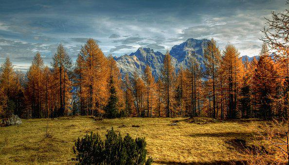 Dolomites, Sorapiss, Alm, Nature, Clouds, Sky, View