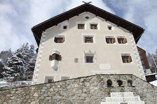 Museum, Engadin, Stmoritz, Graubünden, Switzerland