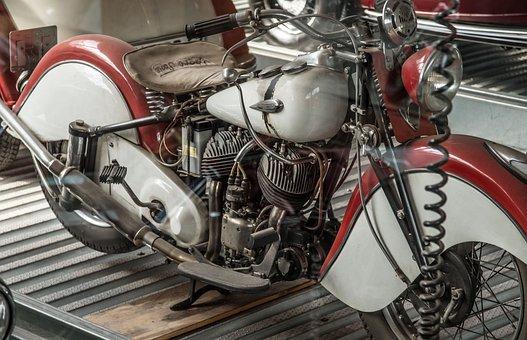 Indian, Motorcycle, Transport, Oldtimer