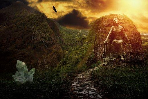 Fantasy, Landscape, Fantasy Landscape, Sunset, Dream