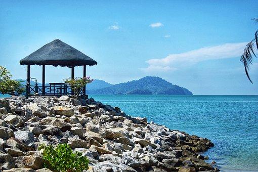 Sea, Water, Blue, Peace, Sky, Langkawi, Beautiful