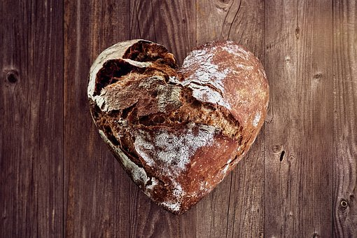 Bread, Love, Heart, Bake, Baker, Bakery, Luck, Eat