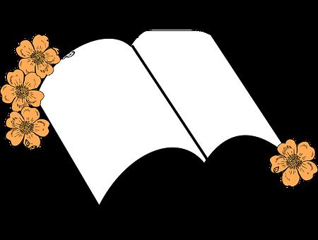 Floral, Journal, Record, Bible, Wedding, Memorial