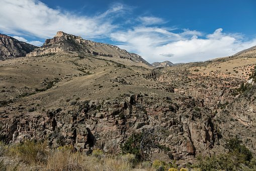 Wyoming, Mountains, Sky, Cloud, Rugged, Landscape