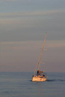 Lake Constance, Sailor, Abendstimmung, Lake, Sail