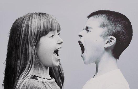 Children, Dispute, Shouts, Cry, Scream, Argue, Trouble