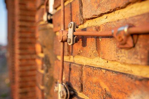 Lightning Arrester, Brick, Wall, Texture, Stone Wall