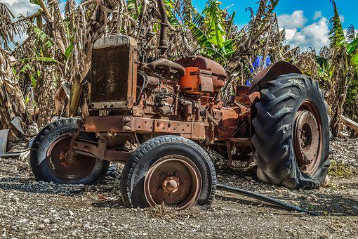 Tractor, Old, Oldtimer, Rusty, Aged, Weathered, Antique