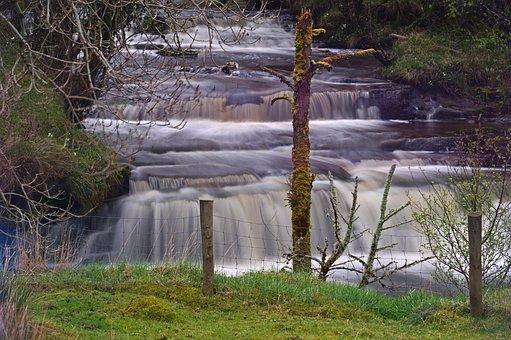 Water, Waterfall, River, Ireland, Splash, Wet, Nature