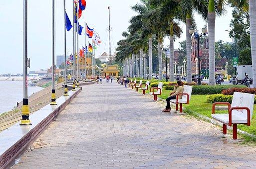 Cambodia, Phnom Penh, Landmark, City, Phnom, Panorama