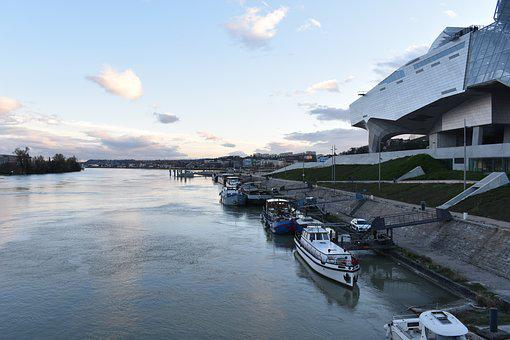 Confluence, Rhone, Barge, Lyon, Museum, River