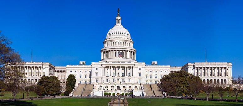 Us Capitol Building, Washington Dc, America, Congress