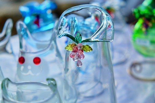 Crystal, Grass Work, Bottle, Beautiful, Decoration